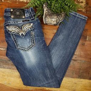 Miss Me Signature Skinny Distressed Jeans